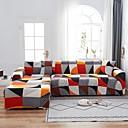 Image of stampa geometrica 1 pezzo copridivano copridivano protettore per mobili fodera per divano morbido elasticizzato fodera in spandex tessuto jacquard super adatto per divano 1 ~ 4 cuscino e divano a