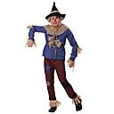 Image of costume da spaventapasseri patchwork per adulti x-large blu