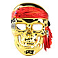 Electroplating Pirate Skull Face Mask for Halloween Costume Party 4611