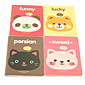Cute Cartoon Animal Pattern Notebook(Random Colors) 4611