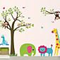 DIY Wall Stickers Animal Cartoon Zoo Washable Wall Decals 4611