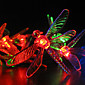 Solar Garden Lights 30 Multi Colorful Dragonfly LED Lights 4611