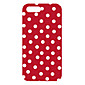 Red Background Round Dots Design Back Case for iPhone 5 4611