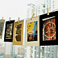 6 Inch 10 Pack Scenery Pattern Hanging Paper Photo Frame (Black,White,Brown) 4611