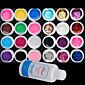 25PCS Mixs Color UV Color Gel within 12 Pure12 Glitter Hexagon SheetCleanser Plus(Random Color) 4611