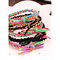 Spell Color Hand Woven Elastic Collision Matching Bracelet Rope Hair Bands (Color Random) 4611