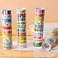 Fancy Adhesive Scrapbooking Adhesives Tape 2.2 M(10 PCS Random Color) 4611