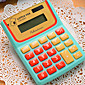 Cute Cartoon Large Screen Solar Calculator 4611