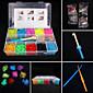 erunerrainbow bandes de métier à tisser de couleur définies (4200pcs bandes de caoutchouc, les clips de quatre pak 4617