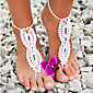 Crochet Barefoot Sandals,Beach Pool Wear,Sexy Accessories, Fashion Accessory,Toe Ring Anklet, Ankle Bracelet(1Pair) Christmas Gifts 4611