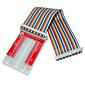 Raspberry Pie 3 GPIO Extended DIY Kit (40P GPIO V2400 Rainbow Line Hole Bread Board) 4611