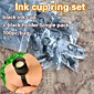 100pcs Ink Cups Plastic Ink Cup Rings Ink Holder With Sponge For Permanent Makeup Eyebrow Tattoo 4611