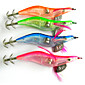 Hengjia LED Squid Jig Fishing Lures 4pcs/Set 105mm 15g (Color Assorted) 4611