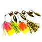4 pcs Hengjia Metal Spinner Baits 14.8g  Floating Fishing Lures 4611