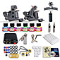 Complete Tattoo Kit 2 Machines Gun 6 Color Inks Power Supply Needles Set 4611