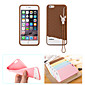 Fabitoo New Fashion Lovely Cute Healthy Cartoon Ice Cream Silica-gel Anti Drop Back Cover Case for iPhone 6 Plus/6S Plus 4611