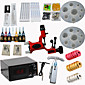 Red Dragonfly Tattoo Machine Kits Power Supply/ Rotary / 20 Needles/ 8 Tips/ 7 Inks Professional Supply 4611