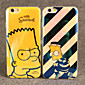 The Simpsons Cartoon Animation Blue Light Reflective Blu-ray Soft TPU Case Cover for iphone 6s / iphone 6 4611