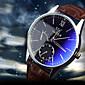 Luxury Brand Fashion Faux Leather Blue Ray Glass Men Watch 2015 Quartz Analog Business Wrist Watches Men montre homme Cool Watch Unique Watch 4611