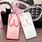 Fashion Cute Transparent Silicone Rabbit Ears Lanyard Back Stand Case Cover For iPhone 6 Plus/6S Plus (Assorted Colors) 4611