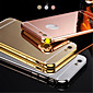New Luxury Plated Aluminum Metal FrameMirror Acrylic Back Cover Shell Case for IPhone6plus 5.5inch 4611