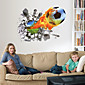 3D Stereo Effect Poqiang Football Wall Stickers 4611