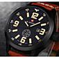 Men's Military Fashion Analog Date Day Leather Band Quartz Watch Wrist Watch Cool Watch Unique Watch 4611