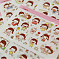 1PC DIY Cute Cartoon Kawaii Stickers Lovely Momo Girl Sticker For Diary Scrapbooking Cellphone Decoration(Style random) 4611