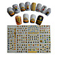 11pcs  New  Cartoon  Lovely  Small  Yellow Doll Minions  Water Transfer Nail Art Stickers STZ075-085 4611