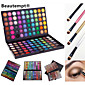 120 Colors Professional Dazzling MatteShimmer 3in1 Eyeshadow Makeup Cosmetic Palette with 4 Brush(3 Color Choose) 4611
