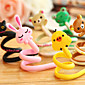 1Pcs Cartoon Animal Earphone Headphone Cable Roller Cord Organizer Wrap Winder(Random Color) 4611