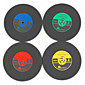 1Pcs Vintage Vinyl Coasters Groovy CD Record Table Bar Drinks Cup Mat (Ramdon Color) 4611