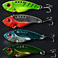 5.5cm 11g/pcs Fishing Lures Vibration Metal 3D Eyes Bionic Bait Lures 4 Colors 4 PC 4611