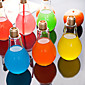 Creative Bulb Glass Water Bottle Portable Juice Cup 4611