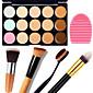 1PCS 15 Colors Camouflage Natural Contour Face Cream/Facial Concealer Makeup Palette1 Contour Brush1 Brush Egg 4611