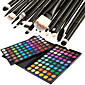 120 Colors Professional Dazzling MatteShimmer 3in1 Eyeshadow Makeup Cosmetic Palette with 20 Eyeshadow Brush Set 4611