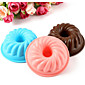 3pc Silicone Round Worm Cored Cake Mold Muffin Cup Baking Tool Chocolate Jelly Pudding Mould Random Color 4611