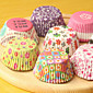 (Color random)100Pcs/Sale Cute Paper Cake Cup Liners Baking Cup Muffin Kitchen Cupcake dessert Ice cream Cases 4611