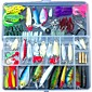 Fishing Lures Lots for Freshwater Saltwater ,Bass Trout Superfrog Colorful Crankbait Kit Sets (Pack of 131pcs) 4611