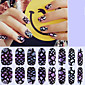 16Pcs Dazzle Colour High Quality Glass Stickers Nail Patch Shell Stickers Environmental Protection Nail Sticker Decals Waterproof 4611