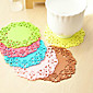 6PCS Creative Hollow Out Silicone Flower Shape Antiskid Hot Heat Insulation Cup Mat 10cm 4611