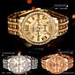 New hot Arrival Quartz Gold Women Men Watch Luxury Diamond Stainless Steel Ladies Male Geneva Wristwatch Montre Homme Femme 4611