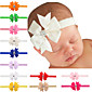 20 pcs/set Baby Girls Bows Hair Clips With Rhinestone In Center 4611