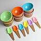 Children's Plastic Ice Cream Bowls Spoons Set Durable ICE Cream CUP (Random Color) 4611