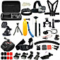 52in1 Accessory Kit Of Protective Case Monopod Tripod Case/Bags Screw Buoy Suction Cup Adhesive Mounts Straps Clip Hand Grips/Finger 4611