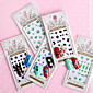 12pcs 3D Full Nail Paste Gemstones With Adhesive Directly Posted Nail Paste 4611