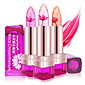 1Pcs Temperature Change Color Lip Balm 3 Color Waterproof Long-Lasting Sweet Transparent Jelly Flower Pink Moisturizer Lipstick 4611