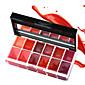 1Pcs 12 Colors Lips Makeup Brand Girl Woman Professional Make Up Lip Gloss Lipstick Cream Palette Set Beauty Brand 25G 4611