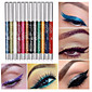 12 Colors Professional Make Up Eye Shadow Lip Liner Eyebrow Glitter Eyeshadow Eyeliner Pencil Pen Cosmetic Makeup Set Kit Tools 4611