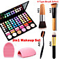 3in1 Makeup Set(78 Colors 3in1 60 Eyeshadow 12 Lipstick 6 Blusher Makeup Cosmetic Palette1 Blush Brush1 Brush Egg) 4611
